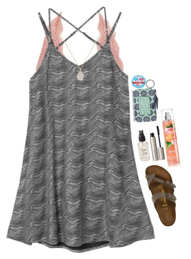 """""""similar to what I'm going to wear tomorrow"""" by gymnastanna01 ❤ liked on Polyvore featuring Charlotte Russe, RVCA, Kendra Scott, Vera Bradley, Olivine, Ilia and Birkenstock"""