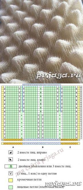 Peek knit pattern
