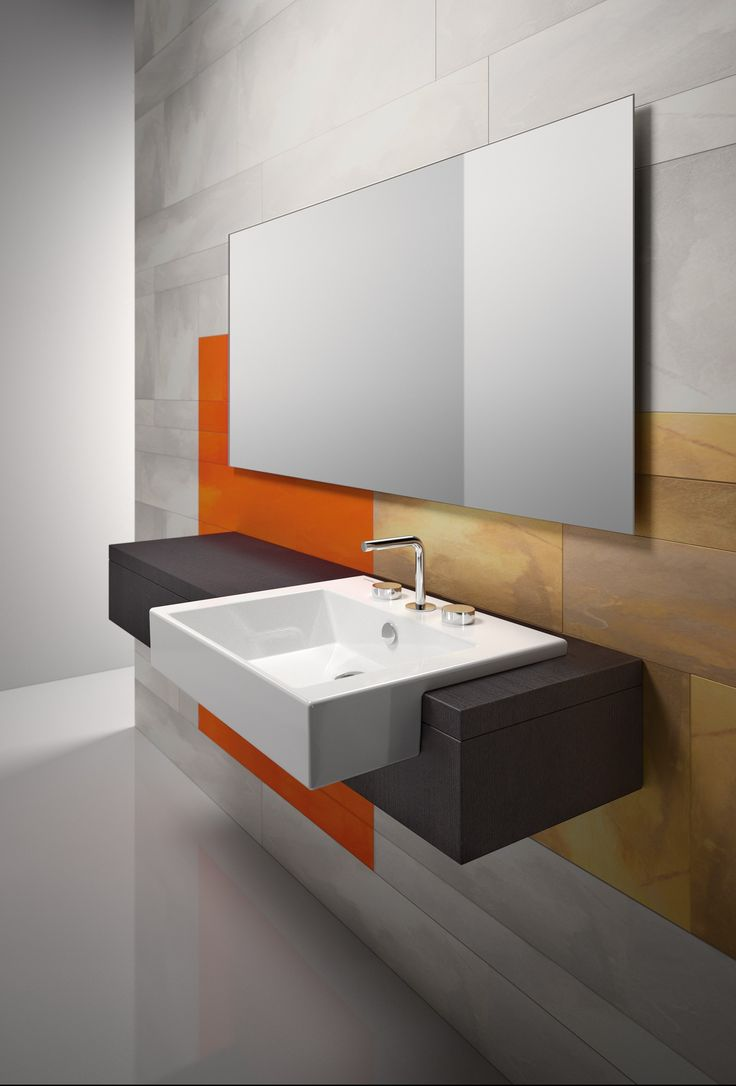 PREMIUM 55X47 Semi Inset Washbasin By CERAMICA CATALANO | Bathrooms |  Pinterest
