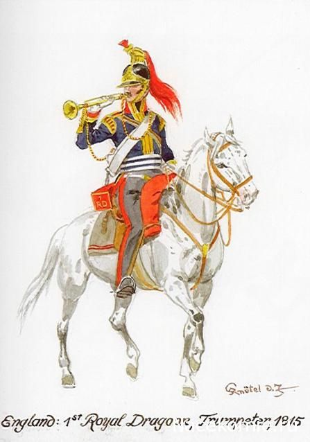 England 1th Royal Dragons Trumpeter 1815