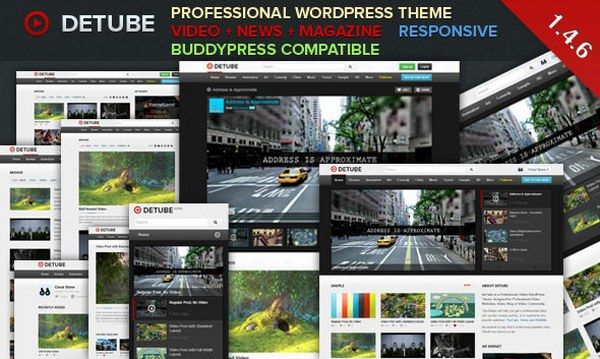 deTube – Stunning Professional Video Responsive WordPress Theme