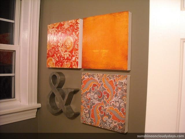 Sunshine on Cloudy Days: {bathroom reveal #2}-- gray & orange