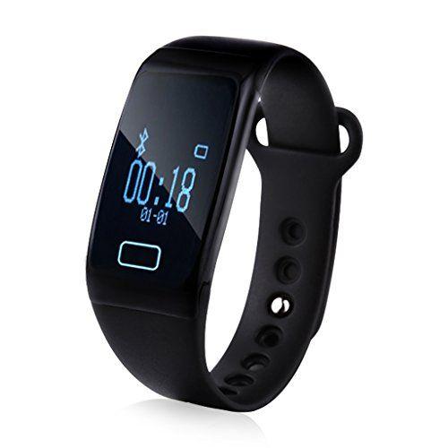 Diggro K18 - Impermeable Ajustable Smartwatch Reloj de Pulsera Android IOS (Bluetooth 4.0, Monitor Cardíaco, Caloría, Sueño,Podómetro, Llamada/Mensaje, Notificación Sedentaria), Negro - http://complementoideal.com/producto/tienda-socios/diggro-k18-impermeable-ajustable-smartwatch-reloj-de-pulsera-android-ios-bluetooth-4-0-monitor-cardaco-calora-sueo-podmetro-llamada-mensaje-notificacin-sedentaria-negro/