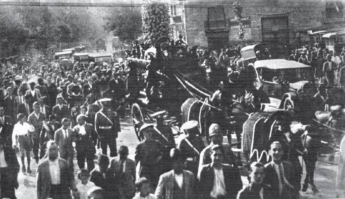 Entierro del Conde de Floridablanca en Murcia. 30 de septiembre de 1931