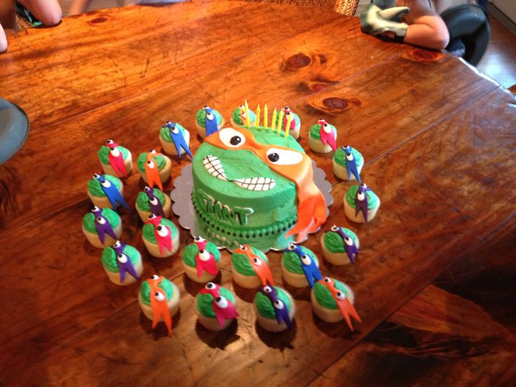 TMNT Cake Cupcakes Party by Cupcake Occasions