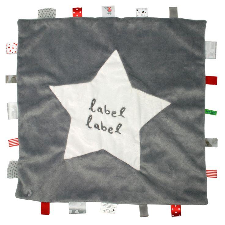 Label-Label Stars knuffeldoekje XL grijs-wit http://www.tuttelwinkel.nl/Knuffeldoekjes/label-label-stars-knuffeldoekje-xl-grijs-wit.html
