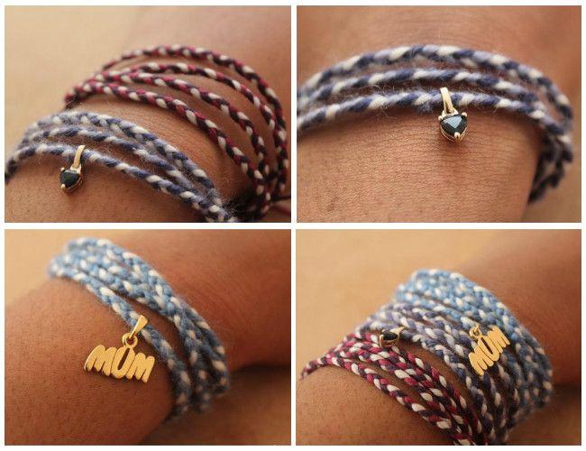 #DIY Yarn Friendship Bracelets   Fashion blog   Oxfam GB #craft #upcycle