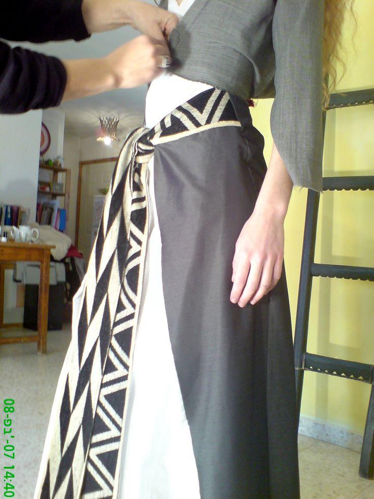 Influenced bu the tibetan traditional dress the Chupa I designed a special evening dress