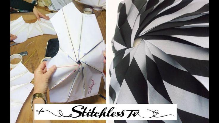 Origami spiral bodice pattern TR Cutting