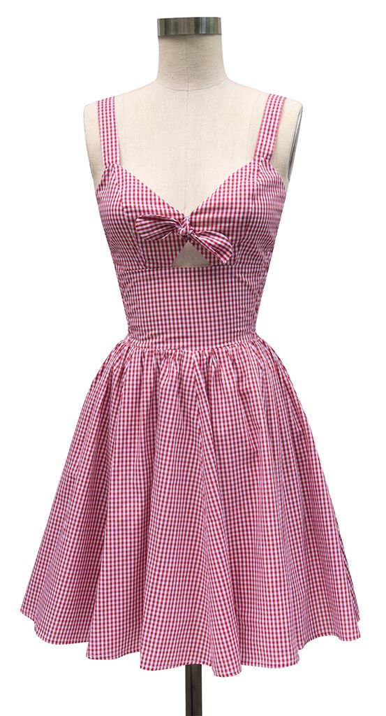 Trashy Diva Hottie Mini Dress | Retro Inspired Dress | Red Gingham