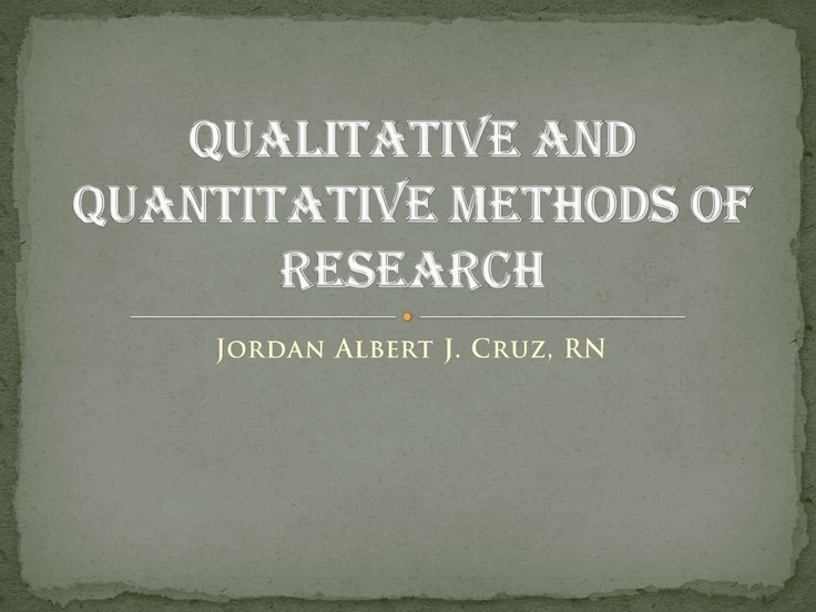 qualitative and quantitative methods for endoparasite The methods employed in a recent investigation into the ecology of  methods of  collection, isolation and maintenance of predatory and endoparasitic fungi.