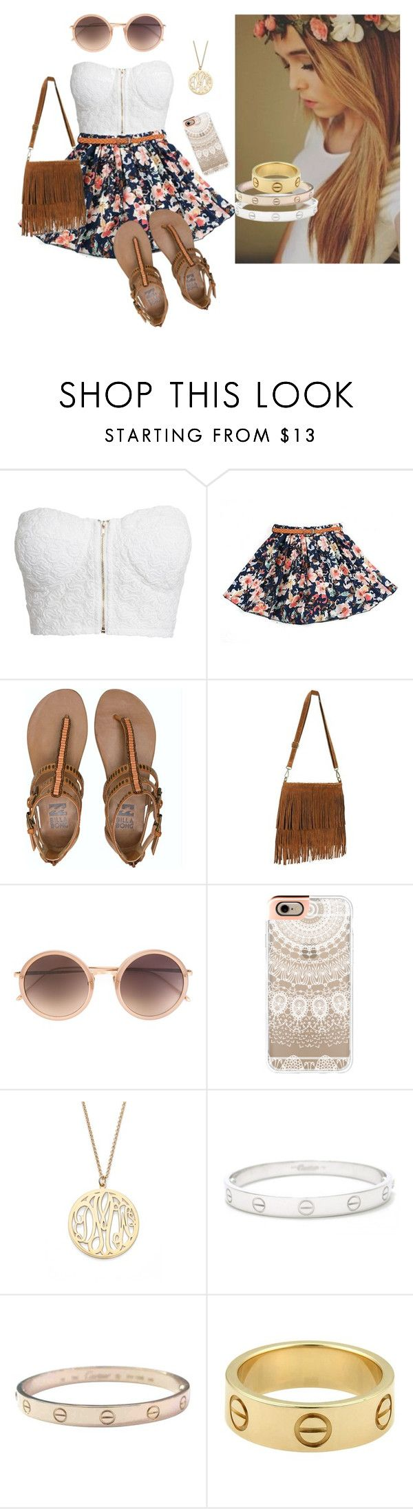 """""""Acacia Brinley Clark was BAE and the first tumblr girl!"""" by mebstyles ❤ liked on Polyvore featuring NLY Trend, Billabong, Brinley Co, Linda Farrow, Casetify, Argento Vivo and Cartier"""