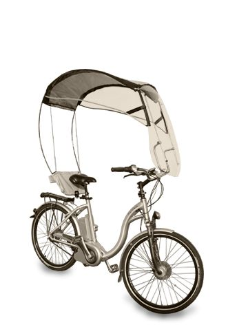 Sun shades for bikes, trikes and mobility scooters