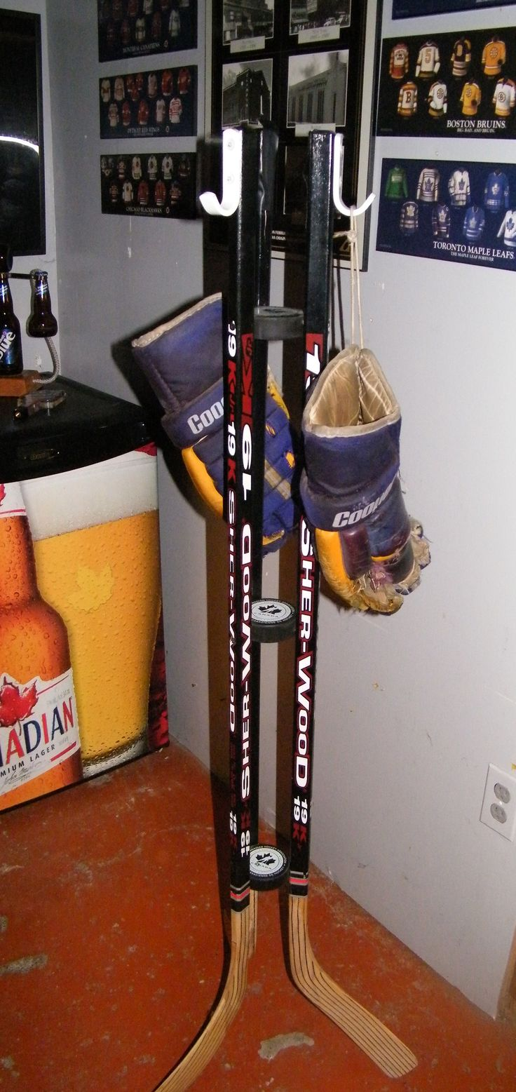 hockey stick coat rack idea i stole! :)