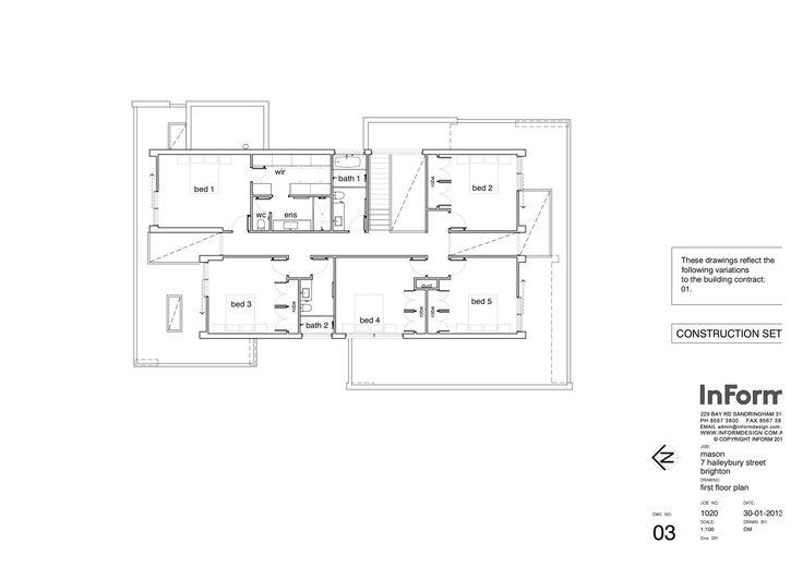 Brighton House,First Floor Plan