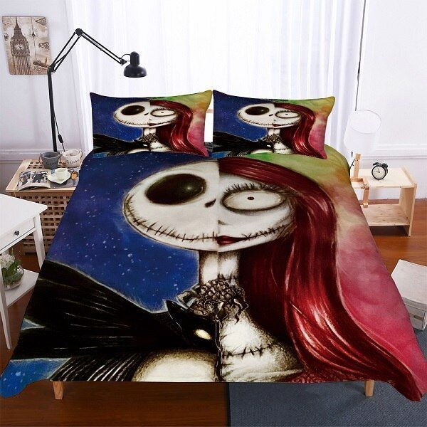 The Nightmare Before Christmas Bedding 2 3 Piece Lover Couple Bed Cover Beatuy Print Nightmare Before Christmas Bedding Christmas Bedding Christmas Bedding Set
