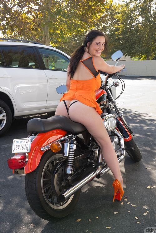 Nude on my motorbike - 1 1