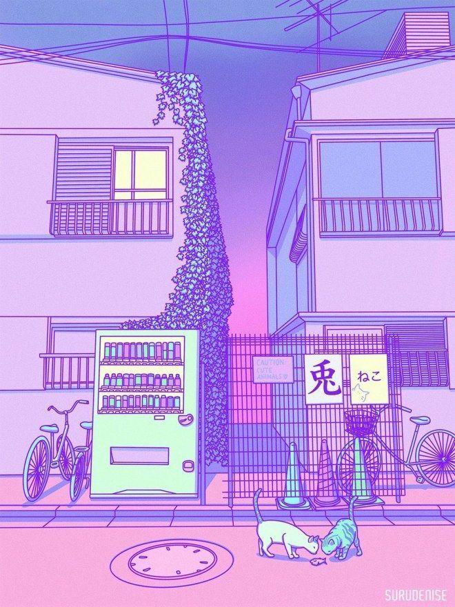 Lilac Pink Purple Aesthetic Retro 90s Aesthetic Pastel Wallpaper Aesthetic Japan Aesthetic Anime