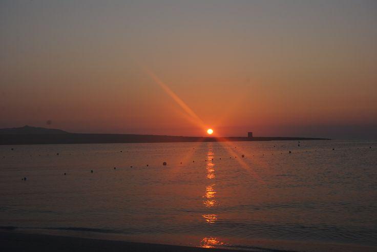 Il sole appena sorto - iniziato un nuovo fantastico giorno :)