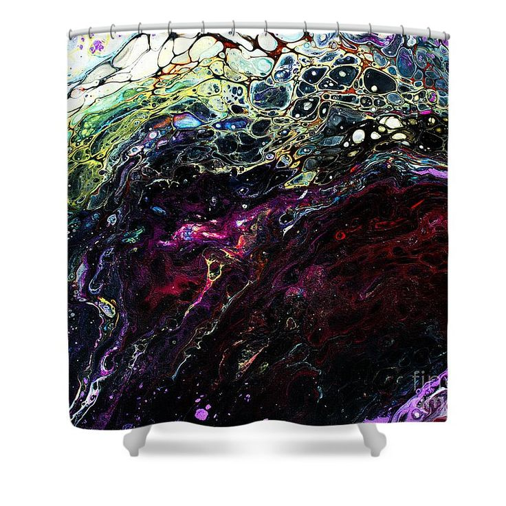 """#377 Arch Of Contrast Shower Curtain by Expressionistart studio Priscilla Batzell.  This shower curtain is made from 100% polyester fabric and includes 12 holes at the top of the curtain for simple hanging.  The total dimensions of the shower curtain are 71"""" wide x 74"""" tall."""