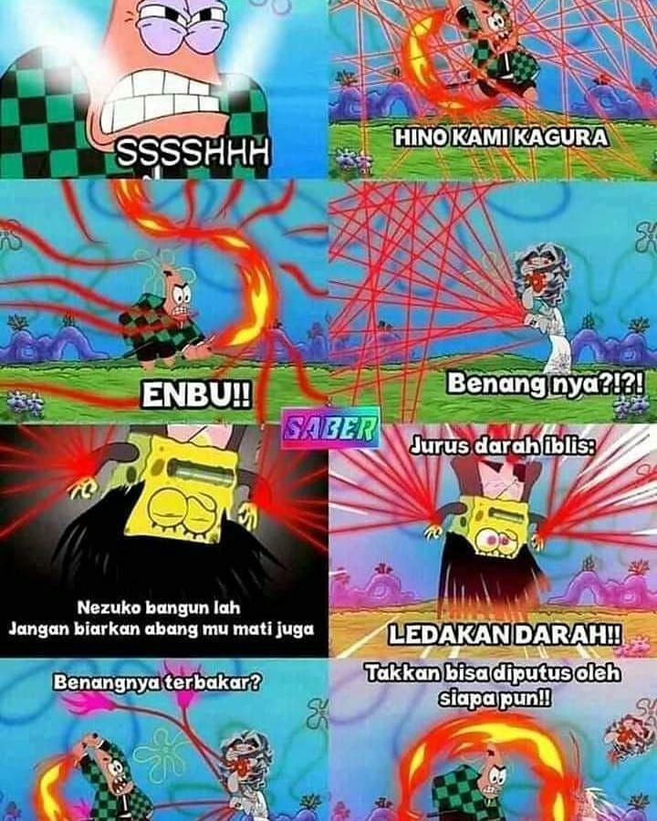 Kimetsu versi spongebobv sc aldirahmatmc Anime Demon