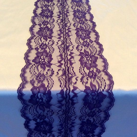 6ft Purple Lace Table Runner Wedding Table by LovelyLaceDesigns, $10.95 -- using this for Phillip and Taylor's rehearsal dinner!