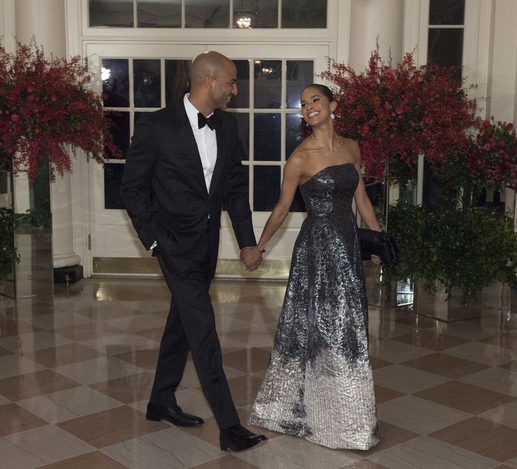 MISTY COPELAND w/ FIANCEE OLU EVANS @ WHITE HOUSE STATE DINNER FOR CHINESE PRESIDENT XI JINPING, September 25, 2015