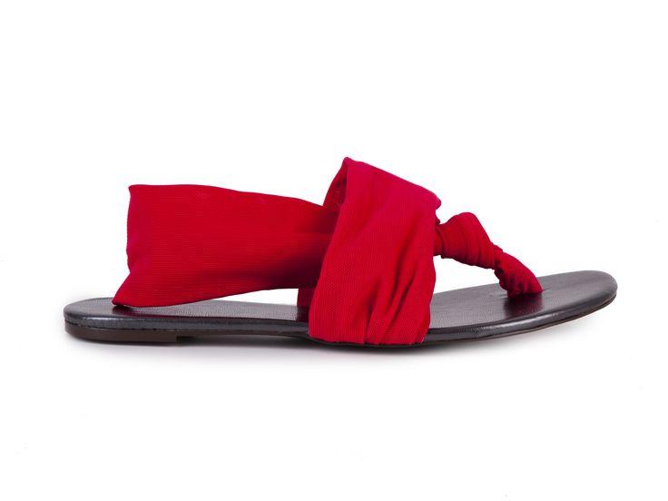 Blink Textilní sandály 801522-A / červená