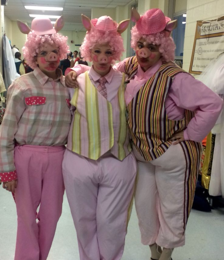 3 pigs rented costumes and fat suits