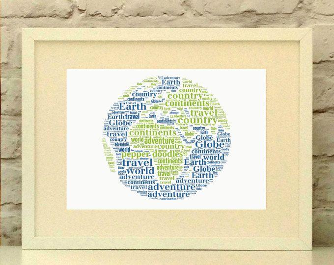 Globe Personalised Print