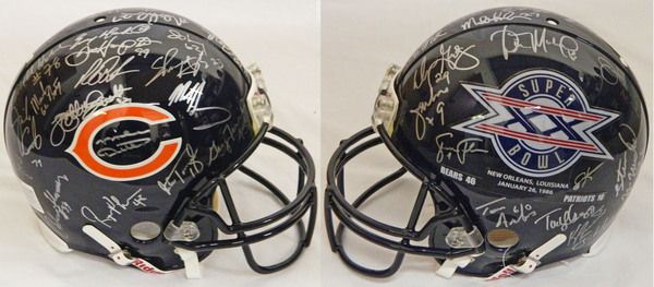 1985 Chicago Bears Team Signed Chicago Bears / Super Bowl XX Champs Logo Authentic Riddell Helmet (30 Sigs)