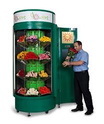 This Flower vending machine lets you grab a beautiful, fresh flower bouquets on the go.