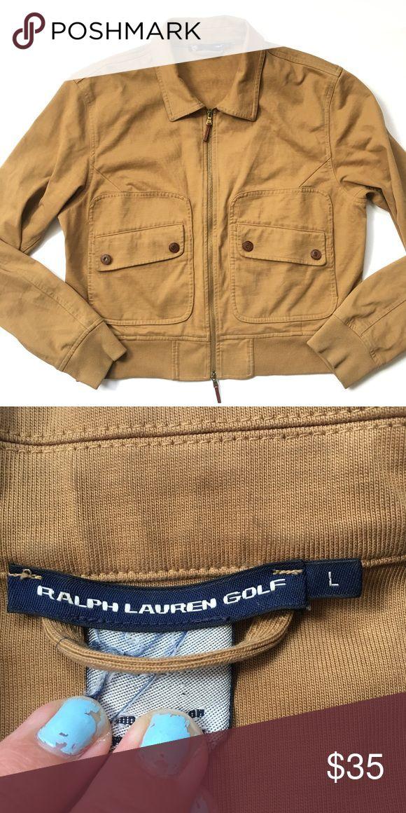 Ralph Lauren gold| zip up jacket ▪️EUC ◾️ships in 24 hours  ◾️no trades ◾️make me an offer 🌸 Ralph Lauren Jackets & Coats Utility Jackets