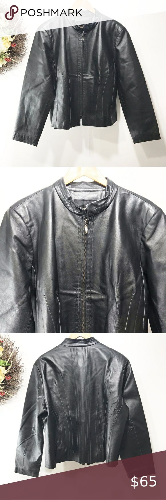 Jenny Lewis Genuine Black leather jacket size 1X in 2020