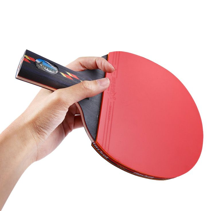 REGAIL Indoor Table Tennis Accessory D003 Red Table Tennis Racket Ping Pong Paddle + Table Tennis Racket Waterproof Pouch Bag