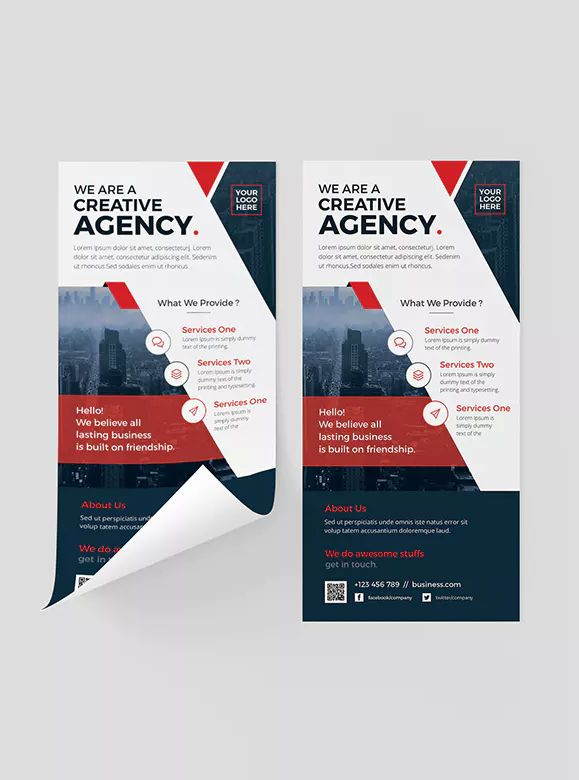 Corporate DL Flyer Template PSD \u2022 Easy To Customize \u2022 All Text