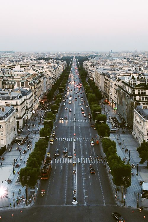 Paris from L'Arc de Triumph.
