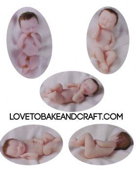 Baby mold, ooak baby, ooak fairy, silicone baby mold, polymer baby mold, prosculpt, doll mould,  set of 4, free shipping