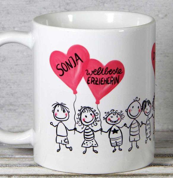 Becher & Tassen - Erzieherin Kindergärtnerin Abschied Geschenk Tasse - ein Designerstück von Tassen-Geschenke-by-MySweetheart bei DaWanda