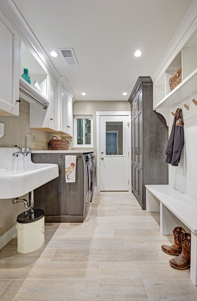 Industrial laundry room design laundry room eclectic with alder natural maple iceberg ice maker