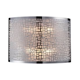 Westmore Lighting�11-in W 1-Light Polished Stainless Steel Pocket Hardwired Wall Sconce