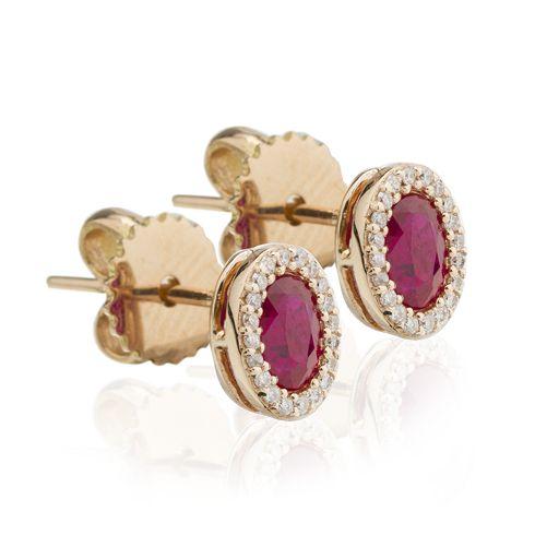 Cercei cu rubine si diamante C584