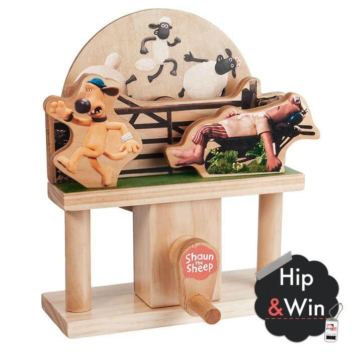 WIN: Mechanisch houten bouwset Shaun het Schaap - 100% HOUT
