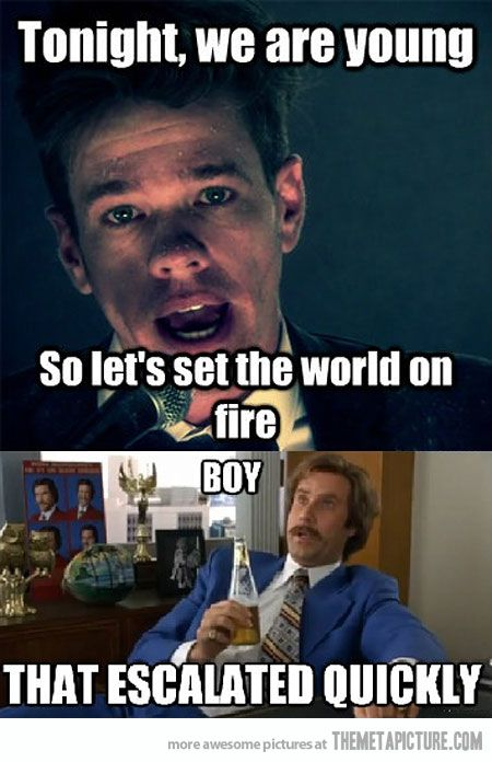 Time to set the world on fire.