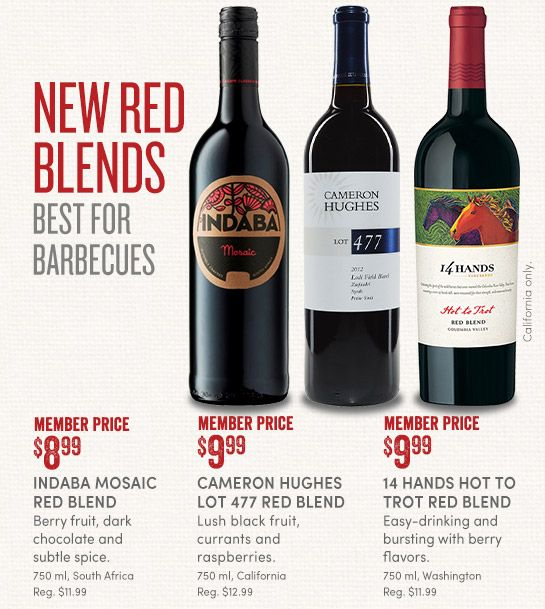 New Red Blends, Best for BBQs via Cost Plus World Market.