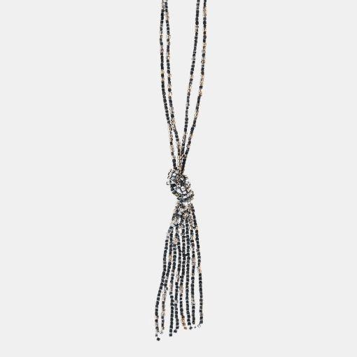 Halsband med glaspärlor