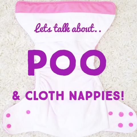 When discussing the ins and outs of usingModern Cloth Nappies, this topicis always the first to come up.What about the Poo? Its really not as bad as everyone first thinks, and is really simple. By then end of this post, you'll feel a whole lot better about dealing with poo and Modern Cloth Nappies!