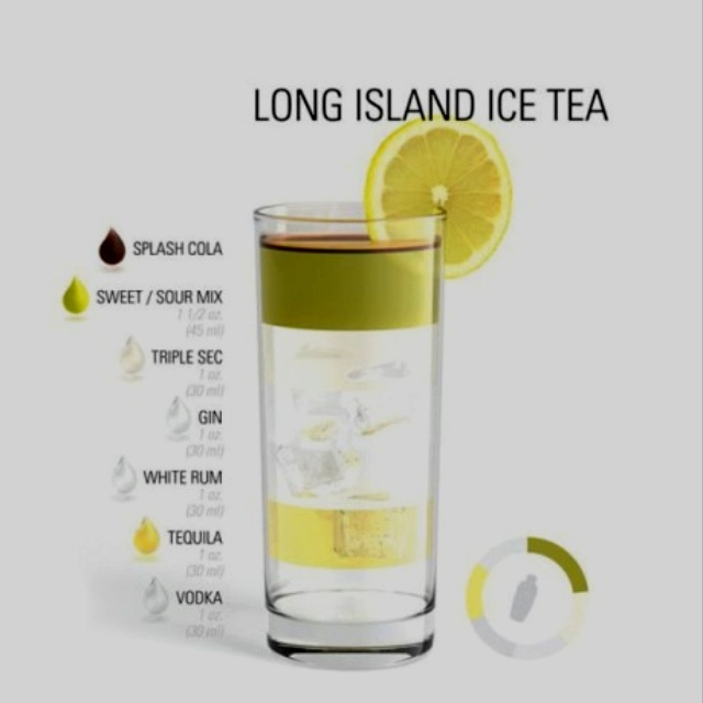 Long Island Ice Tea... make you wake up with crackers in your hair the next day???