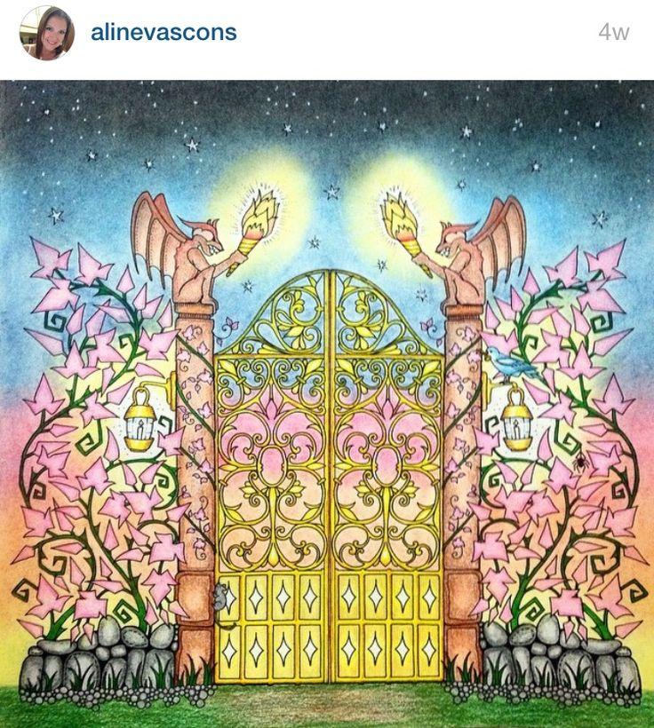 Joanna Basford Coloring Books Adult Pages Johanna Secret Garden Gardens Color Art Argentina Doodles