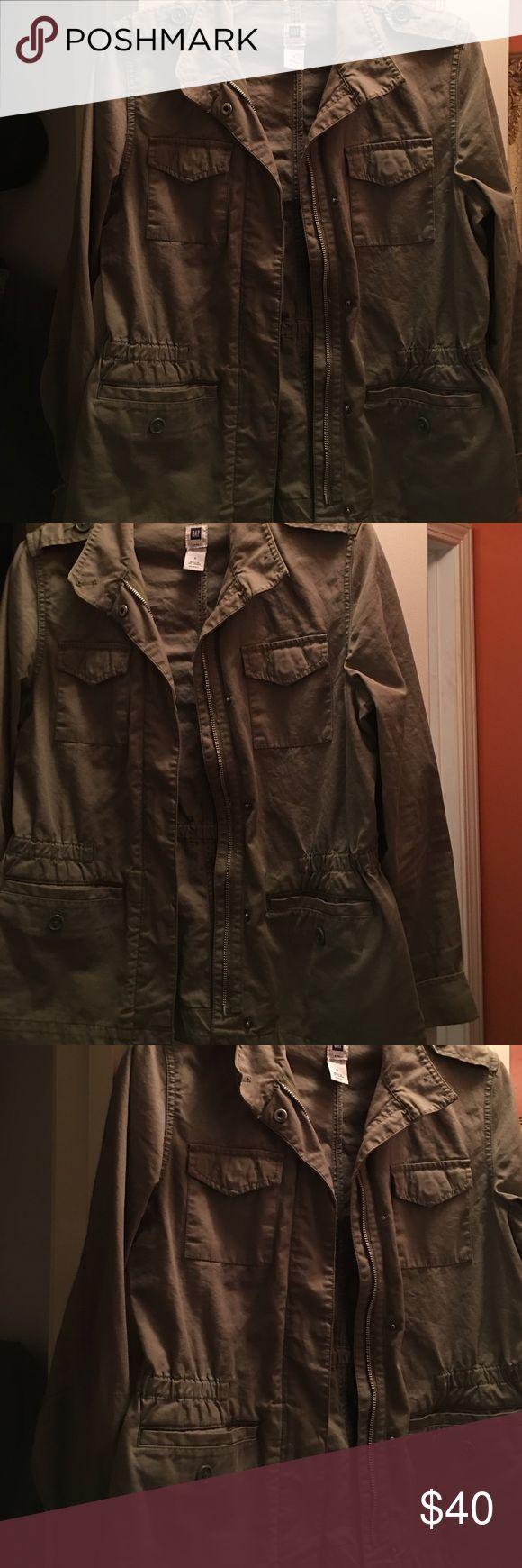 Forest green GAP Jacket! Forest Green GAP jacket. Worn Once!! Size:Small GAP Jackets & Coats Blazers